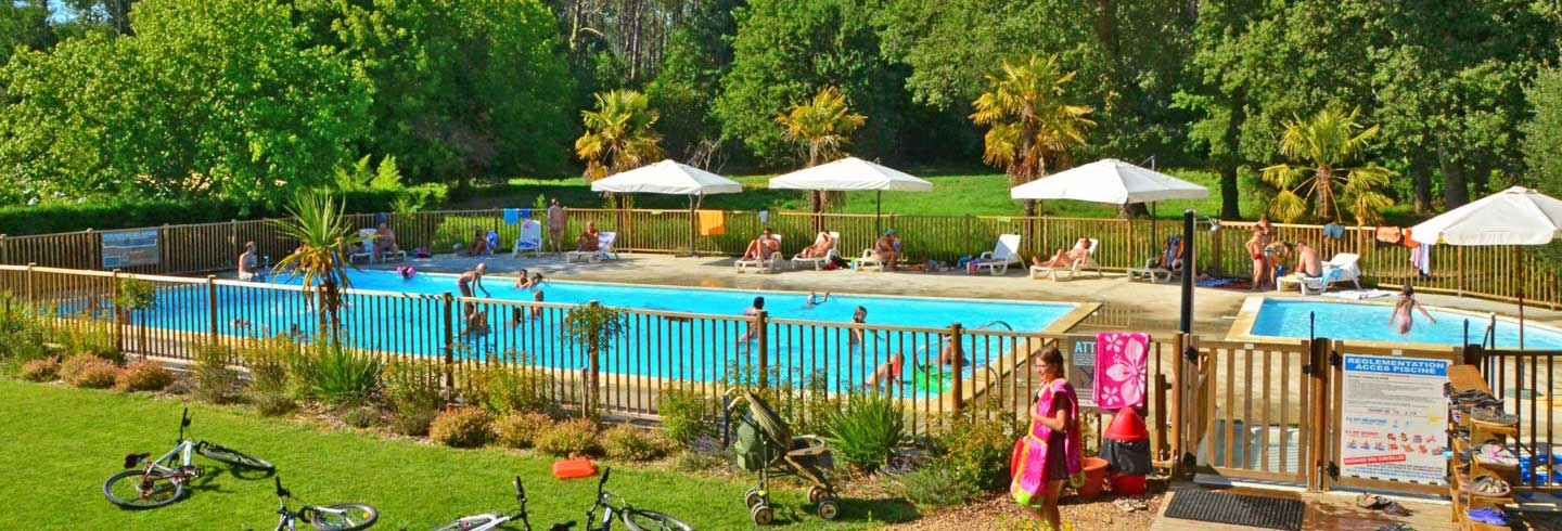 campsite swimming pool foret landaise