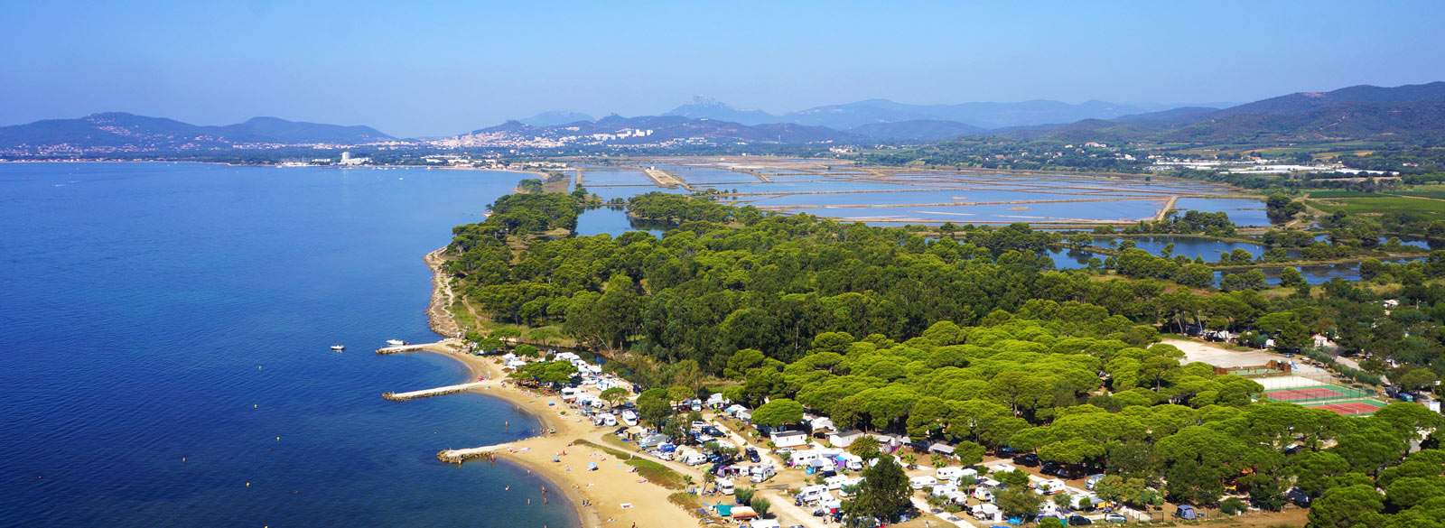 location week end massif des maures - Plage du camping