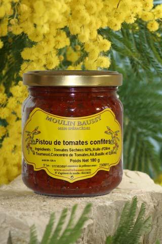 vente pate d olive aux tomates confites en ligne - MOULIN BAUSSY