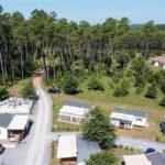 location emplacement camping a l annee dans les landes - mobil home