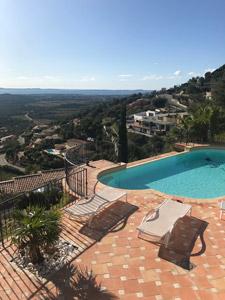 location maison avec piscine proche le lavandou - location vacances